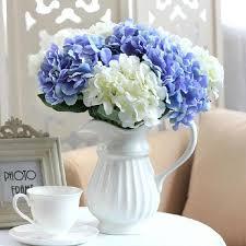 hydrangea bouquet 1 bunch 7 artificial hydrangea bouquet silk flowers wedding