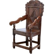 Wainscot America Late 17th Century Carved Oak Wainscot Chair For Sale At 1stdibs