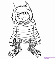 free coloring pages wild things many interesting cliparts