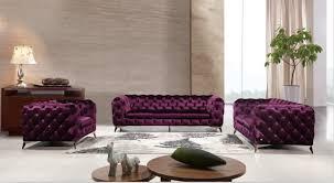 canapé chesterfield violet canapés pour salon classique canapé avec tissu canapé ensemble