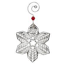 waterford mini snowflake ornament 2017 silver