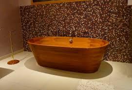 vasche da bagno legno vasca da bagno da appoggio ovale in legno image