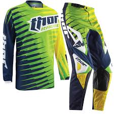 jersey motocross thor phase 2015 vented rift youth lime junior kids mx pants jersey