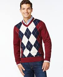 hilfiger sweater mens hilfiger signature argyle v neck sweater sweaters