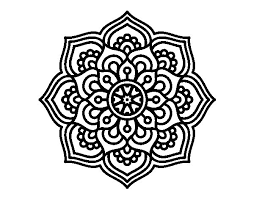 Mandala Concentration Flower Coloring Page Coloringcrew Com Mandala Flowers Coloring Pages
