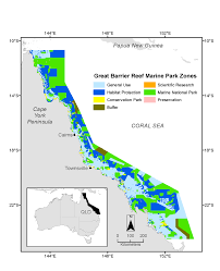 Great Barrier Reef Map Actual And Gridded Bioregions In The Great Barrier Reef Marine