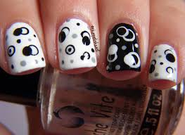 the polish well nail ideas black and white molecules black and