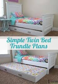 How To Build A Twin Size Platform Bed Frame by Best 25 Trundle Beds Ideas On Pinterest Girls Trundle Bed