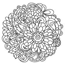 background flowers coloring printing