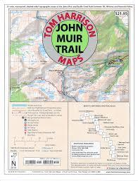 Yosemite Topo Map John Muir Trail