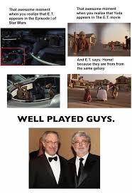 Et Is A Jedi Meme - e t and star wars are in the same universe xpost r starwars
