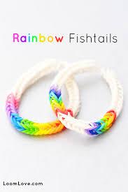 bracelet color bands images Fishtail rainbow loom patterns jpg