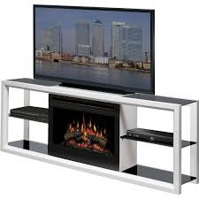 white electric fireplace media console dact us