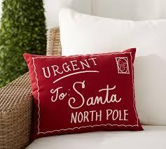 santa letter indoor outdoor pillow pottery barn