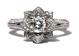 old fashion rings images Old engagement ring floral design jpg