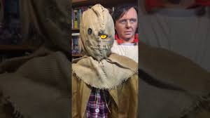 halloween nick nacks gemmy life size creepy halloween scarecrow youtube