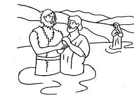 john baptist hold jesus hand coloring netart