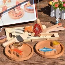 jeux de société cuisine 14 pièces jouet de pêche et découper cuisine en bois jeu de cuisine