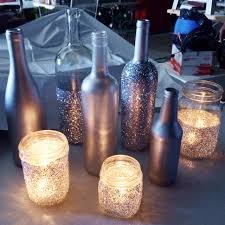 silver wine bottles lenore wedding centerpiece diy craft ideas