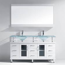 Glass Vanity Table With Mirror Virtu Usa Rocco 61