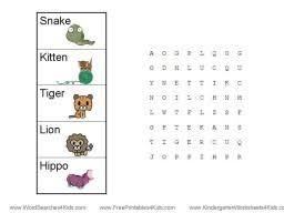 word search for kindergarten kids pinterest word search