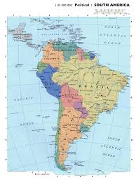 Map Of Equator Maps Of South America And South American Countries Political