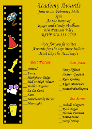 oscar party invitation image collections party invitations ideas