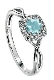 aquamarine engagement rings elements gold for ladies 9ct white gold diamond and aquamarine