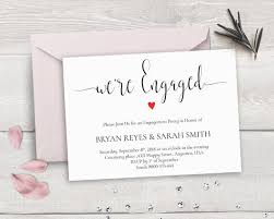 engagement greeting card printable engagement invitation template we re engaged