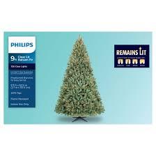 philips 9ft prelit artificial tree balsam fir clear