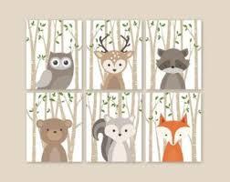 Raccoon Nursery Decor Animal Nursery Woodland Nursery Decor Baby Animals Room
