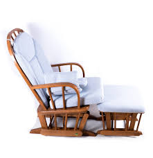 Gliders And Rocking Chairs Eagle Dutailier Glider And Ottoman With Blue Cushions Ebth