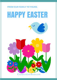 easter greeting card wording confetti bliss