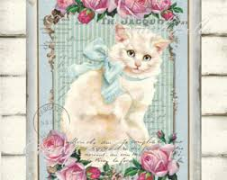 shabby chic victorian with doll printable french digital