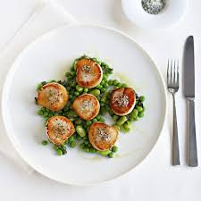 cuisine gordon ramsay gordon ramsay scallops with minted peas and beans fish recipes