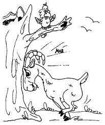 amazing animal mountain goat coloring pages color luna