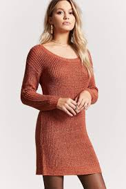 sweater dress scoop neck sweater dress forever 21 2000144762