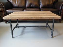 wood table with metal legs video wood coffee table steel pipe legs made dma homes 19572