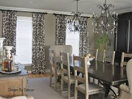 country dining room curtain ideas antique bronze finished hardware
