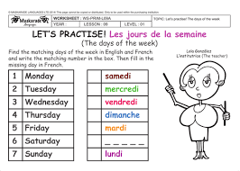 French Resume Example by Worksheet Days Of The Week In French With Resume Sample With