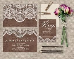 Shabby Chic Wedding Invitations by Lace U0026 Wood Wedding Invitations Shabby Chic Weddings Or Rustic