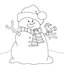 snowman coloring pages for adults printable frosty the to print