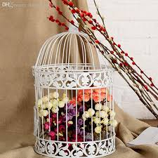 bird cage decoration wholesale classic white decorative bird cage for wedding metal