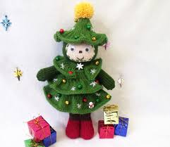 christmas tree doll toy knitting pattern christmas decoration