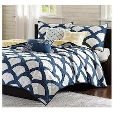 Light Blue And White Comforter Bed Quilts U2013 Sky Iris