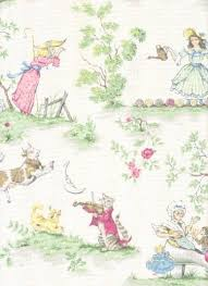 Fabric For Nursery Curtains The Moon White Nursery Rhyme Toile Printed In By