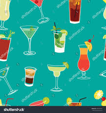 blue martini clip art set famous cocktails blue seamless vector stock vector 203459554