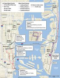 Map Of South Beach Miami by Art Basel Week 2015 Guide How To Get Around Miami Herald