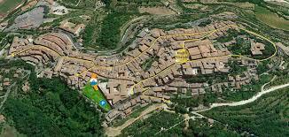 Montepulciano Italy Map by Al Poggiolo Montepulciano
