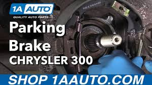 how to install replace e brake parking brakes 2006 chrysler 300